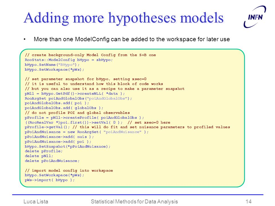 Adding more hypotheses models