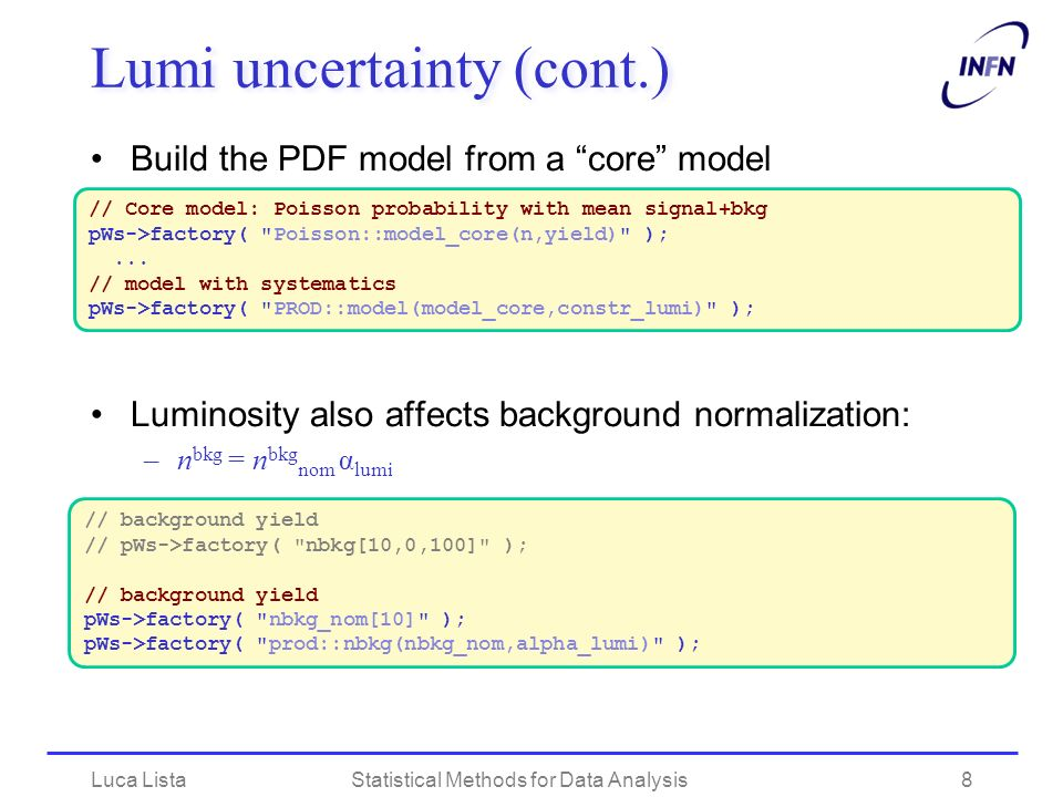 Lumi uncertainty (cont.)