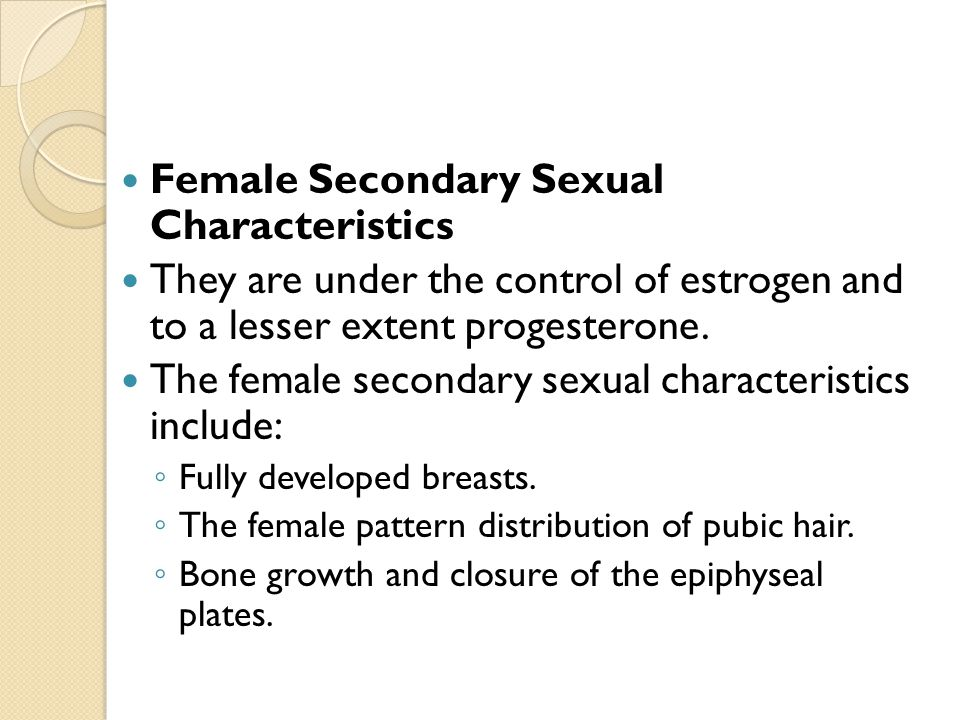 Secondary sex characteristic - Wikipedia