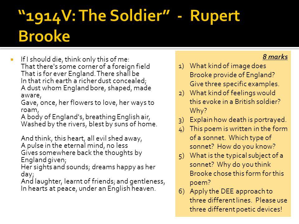 the soldier rupert brooke analysis
