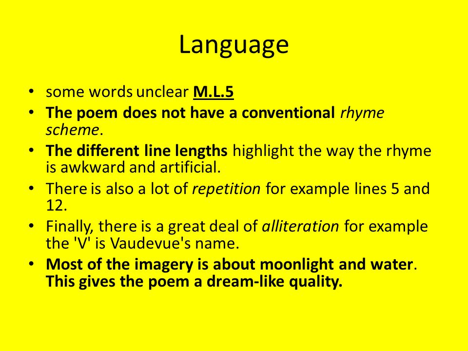 Conflict poems – in brief - ppt download