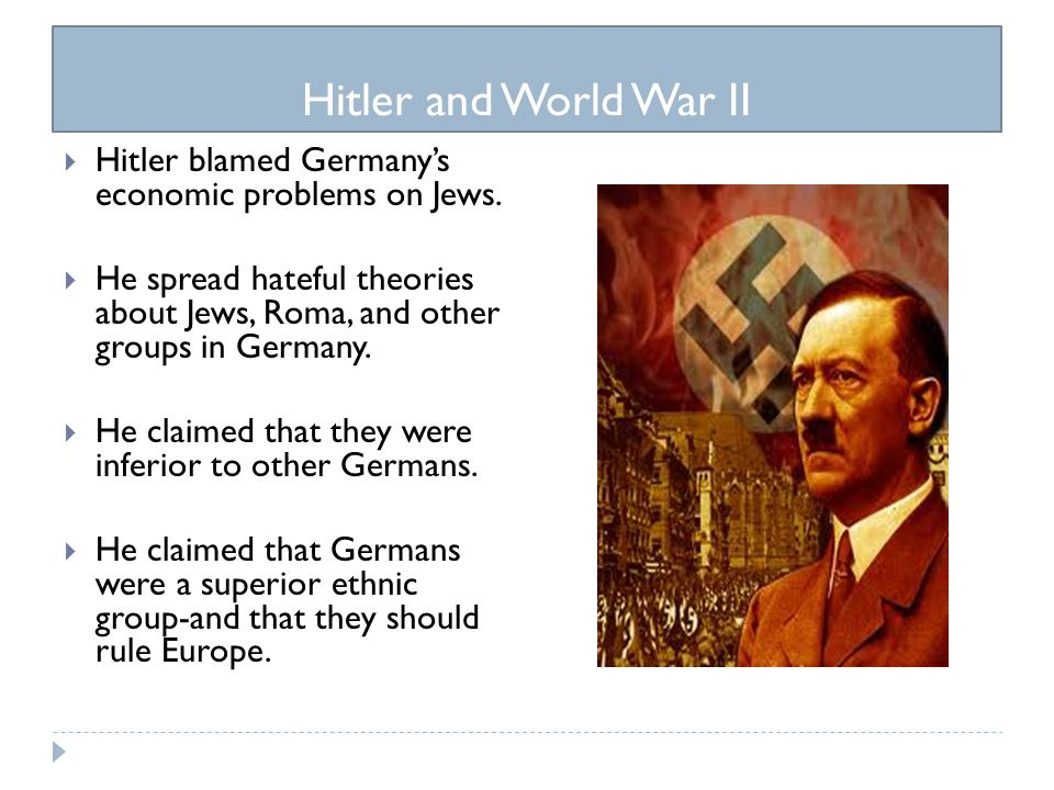was hitler to blame for ww2 Key question: how far was hitler's foreign policy to blame for the outbreak of war causes of wwii the terms of the treaty of versailles the ineffectiveness of the.