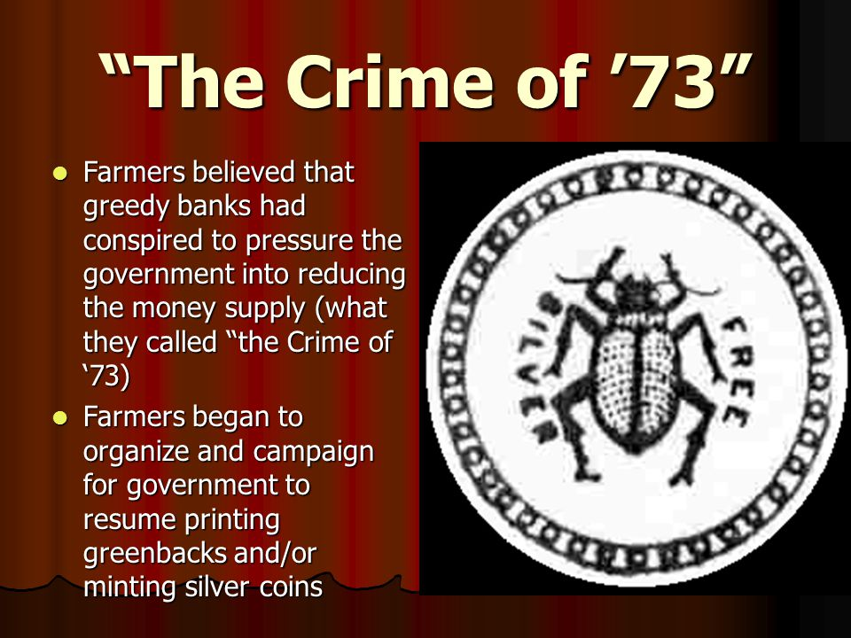 The Crime of '73