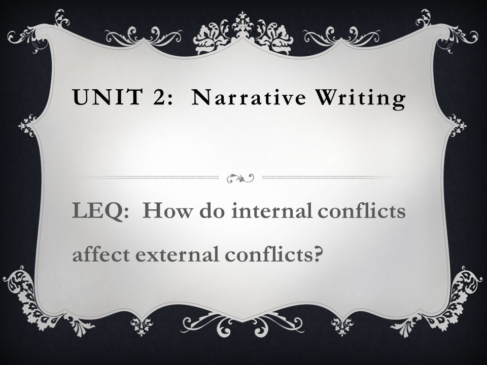 Unit 2: Narrative Writing