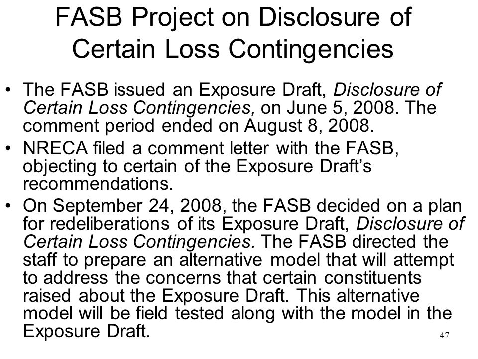 List of FASB pronouncements