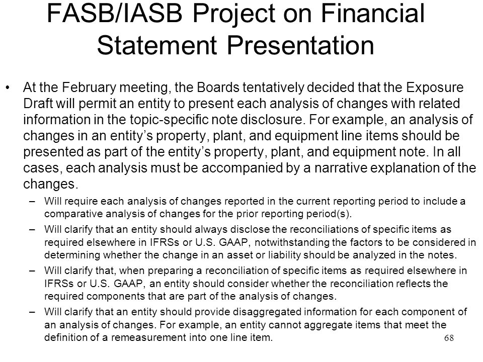 financial statement presentation changes Illustrative comprehensive annual financial report  service funds are converted and consolidated for presentation as gov-  statement of changes in fiduciary net.