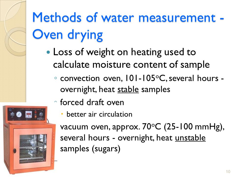 Chapter 5 Analysis Of Water Content Total Solids Amp Water