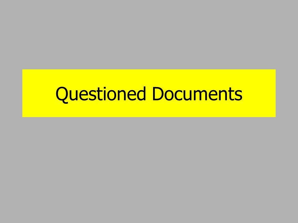 what is a questioned document Welcome to liberty investigative services where debra dunlap, cfde specializes in handwriting services, forged signatures and is a court-qualified forensic document examiner located in the midwest, debra is a handwriting expert providing services in kansas city, kansas such as document examinations, consulting and research services as well as.