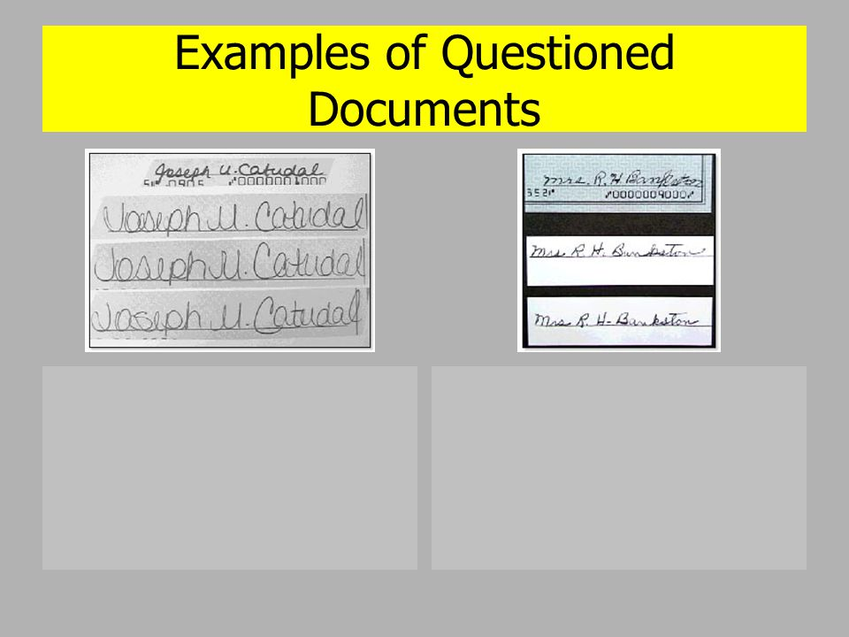 Questioned documents ppt video online download for Questioned documents forensic science