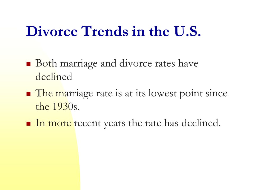Divorce Trends in the U.S.