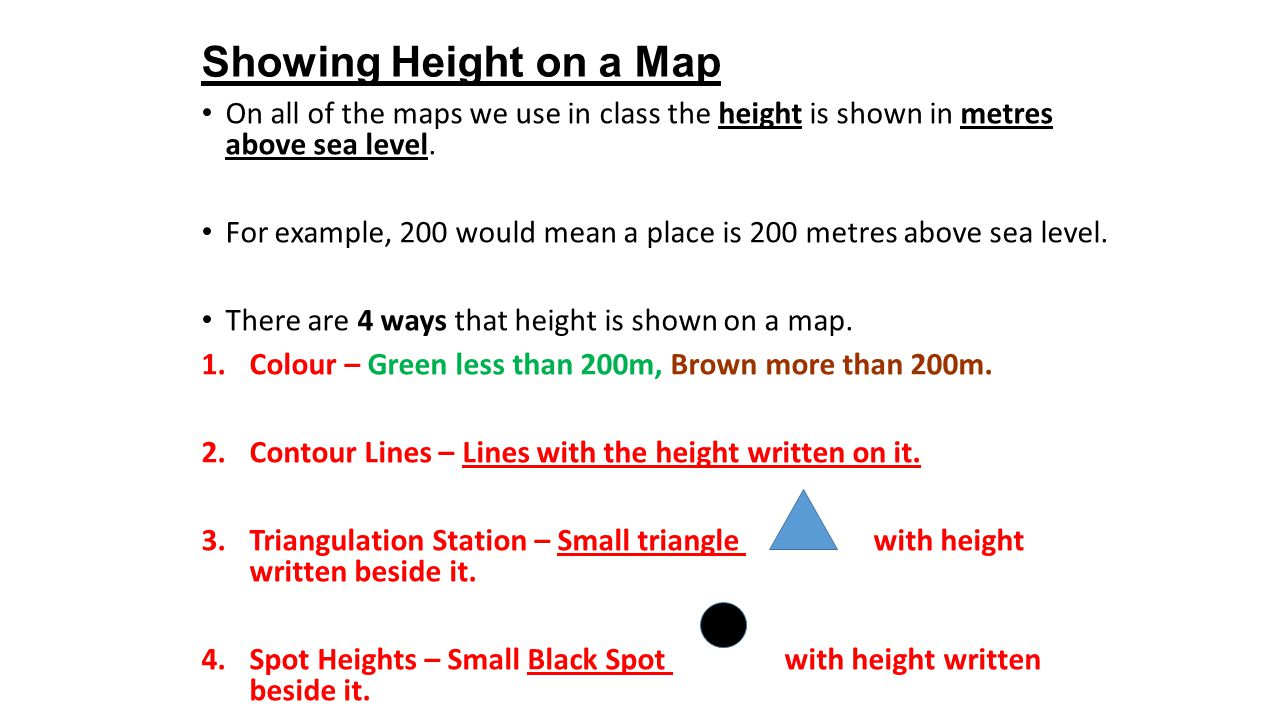 how to show height on a map