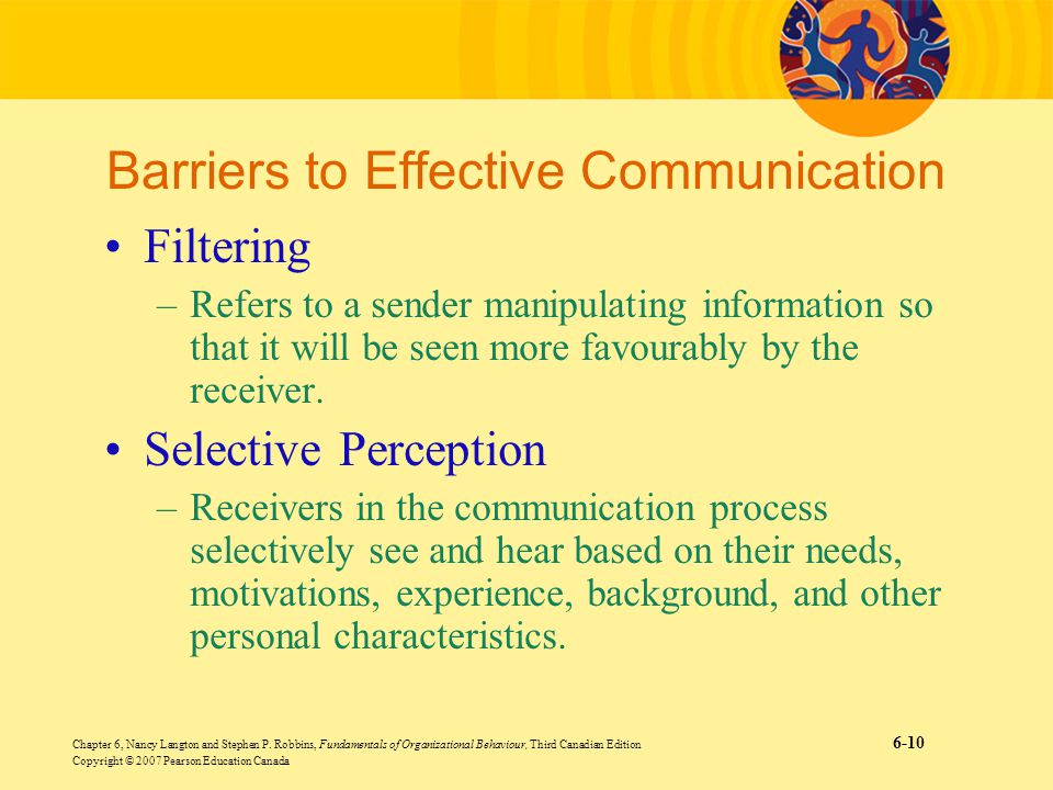 differing perceptions effecting communication Effective communication  understand how emergency communications differ  from daily  check your perceptions of how the speaker is feeling to put the.