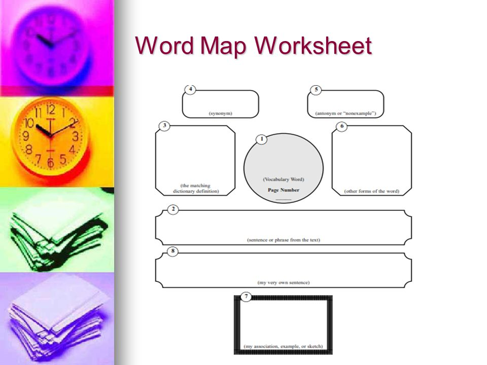 Word Map Worksheet