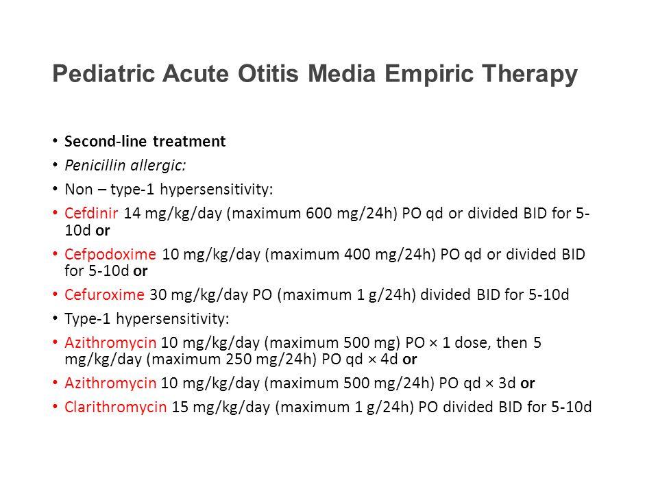 Omnicef Dosing For Otitis Media