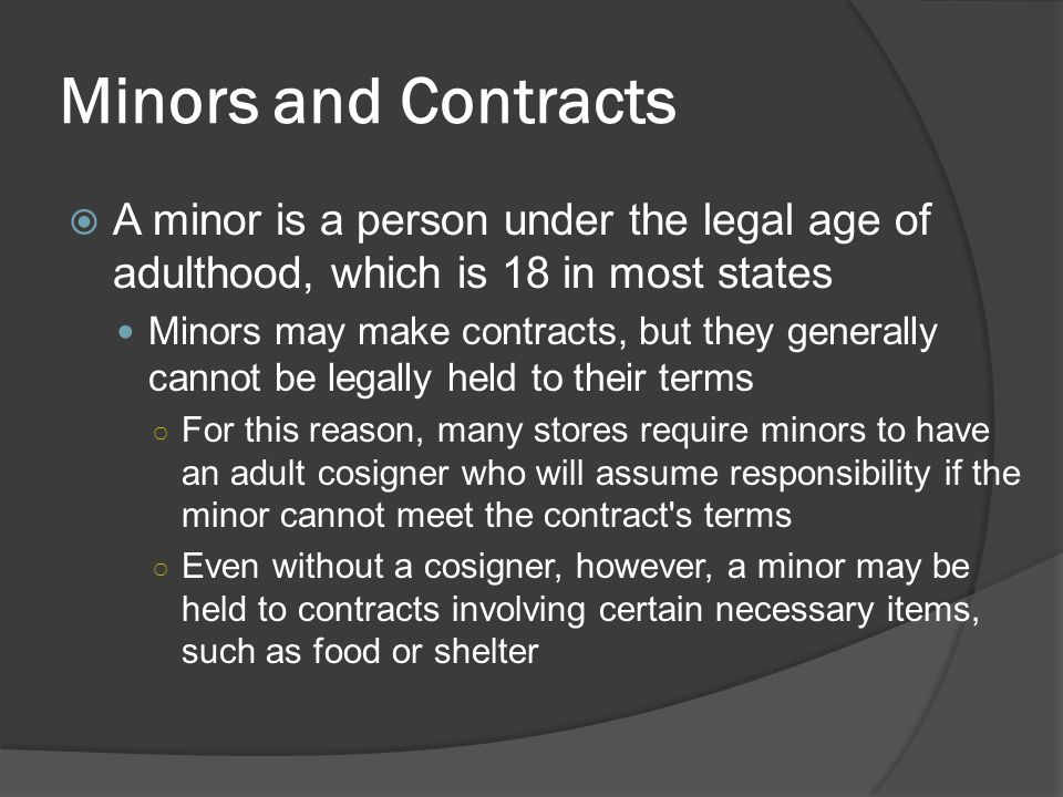 Law for dating someone under 18