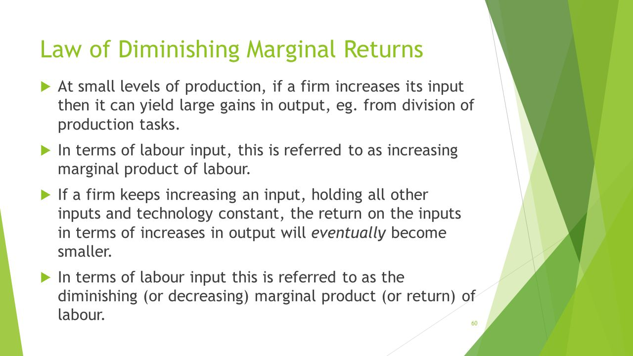 marginal returns and free is not