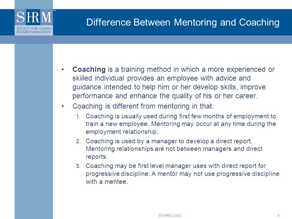 Difference Between Mentoring and Coaching