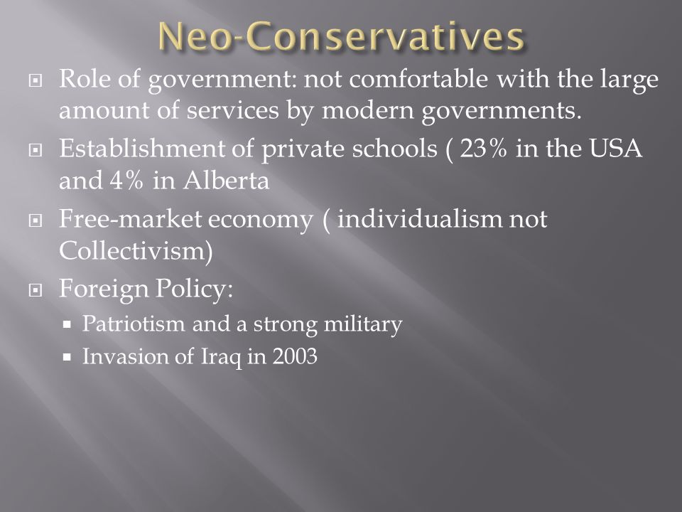 liberalism and the role of the government The liberal belief is that education policy is best when dictated from washington d c with federal education subsidies contingent upon state and local government compliance to federal mandates conservatives believe that federal money should not be based on specific agendas developed in washington d c but instead should be granted to state .