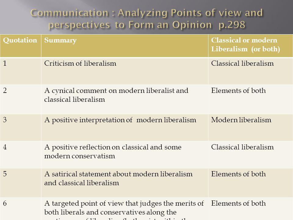 effects Classical Liberalism Modern Liberalism - ppt download