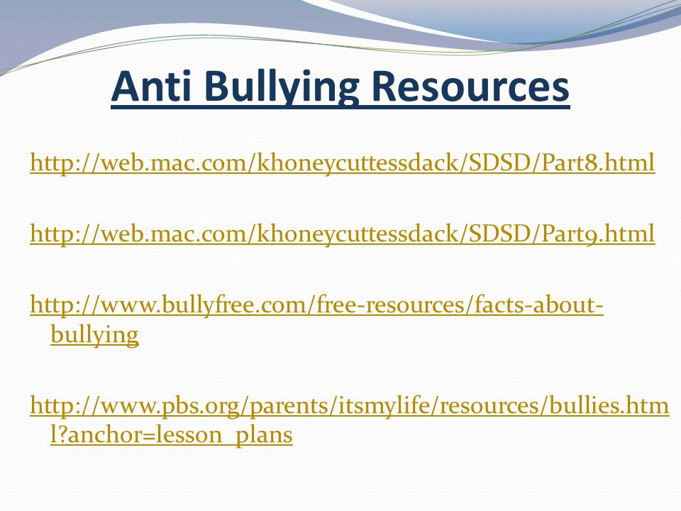 Anti Bullying Resources