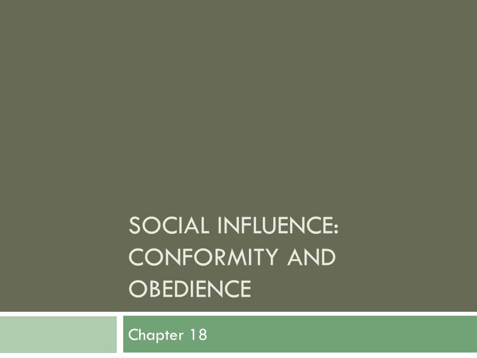 social influence comformity obedience and compliance Full-text (pdf) | this review covers recent developments in the social influence literature, focusing primarily on compliance and conformity.
