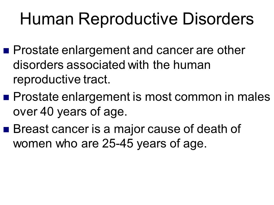 Human Reproductive Disorders