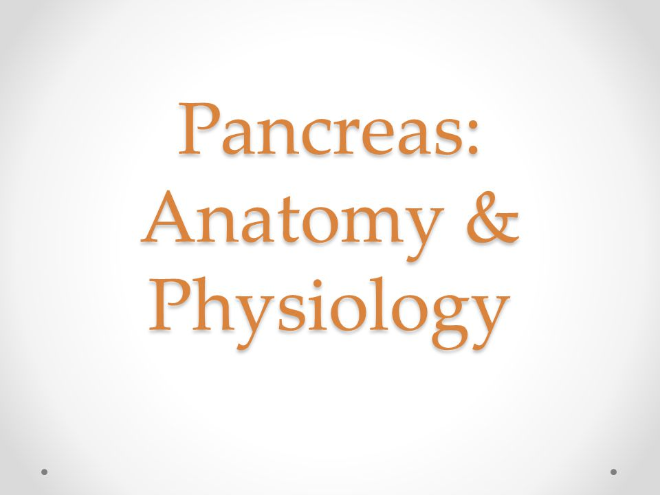Pancreas: Anatomy & Physiology - ppt video online download