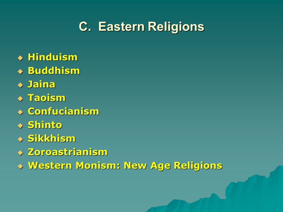 a comparison of confucianism and taoism two eastern religions The eastern religions are the religions originating in east, south and southeast asia and thus having dissimilarities with western religions this includes the east asian religions (taoism and confucianism), indian the tenets of sikhism include (1) honest living/earning (2) tithing and giving alms (3) chanting on god.