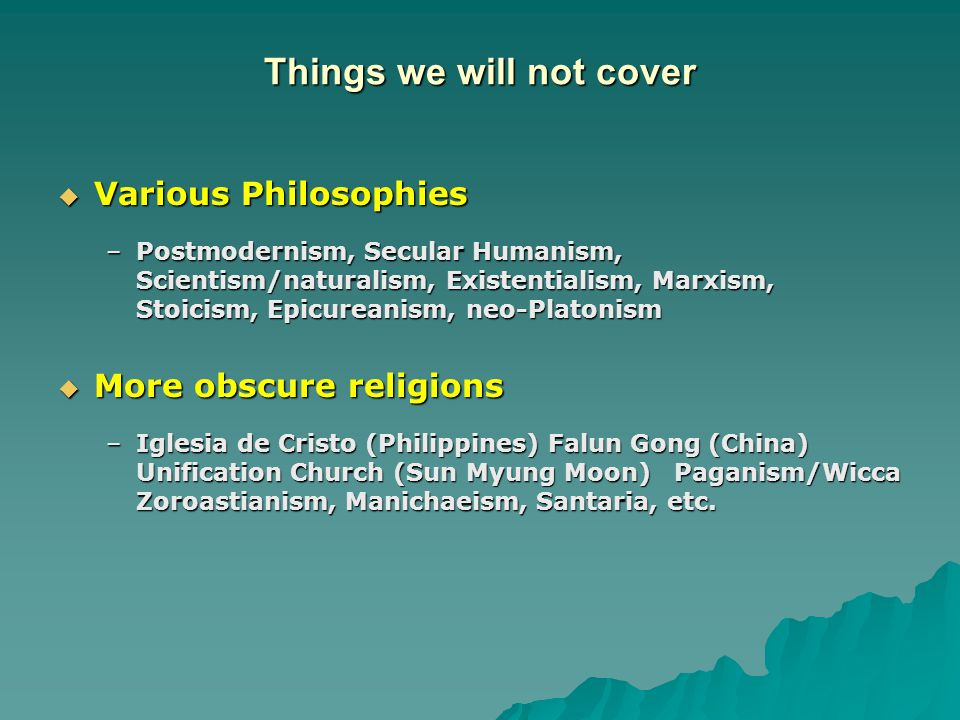 Apologetics and World Religions - ppt download