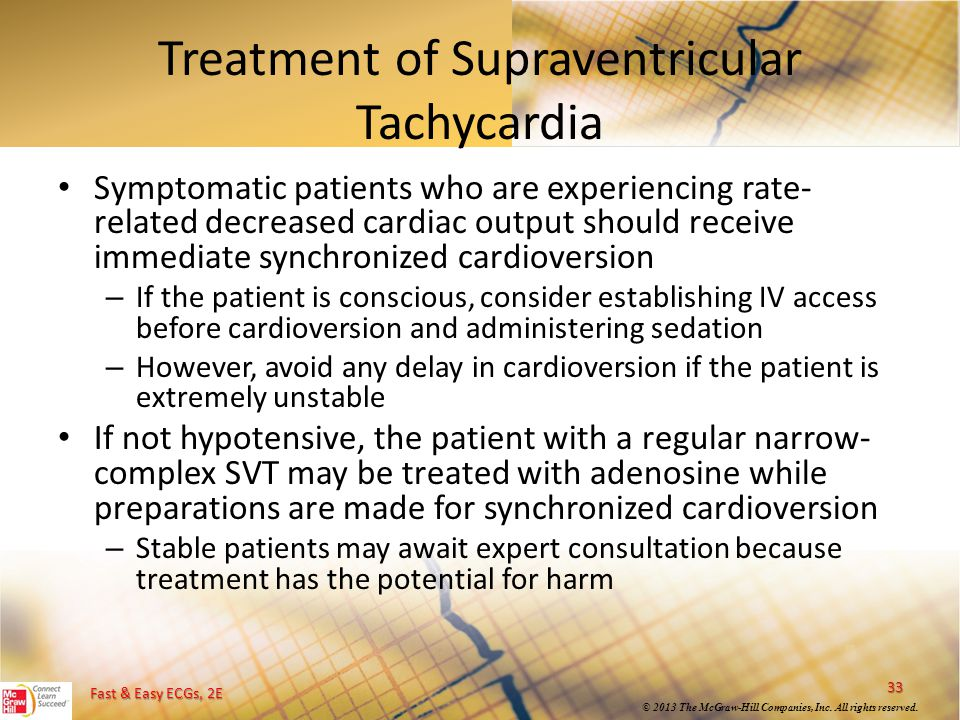 Treatment of Supraventricular Tachycardia