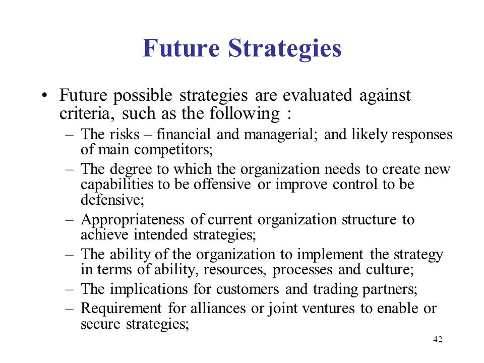 Future trading strategies ppt