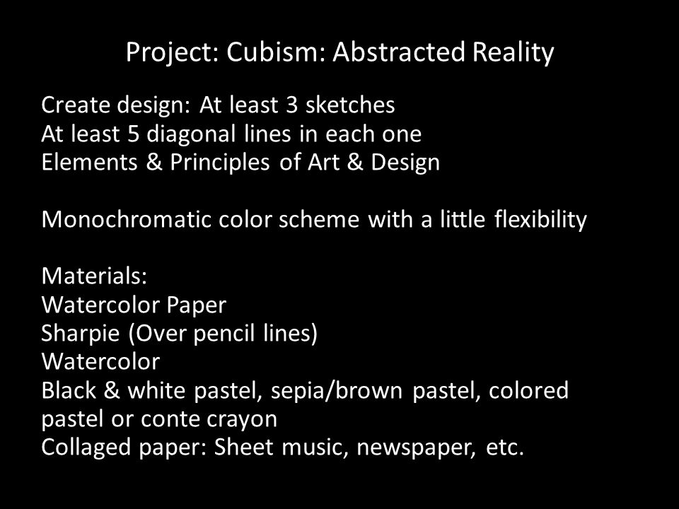 Project: Cubism: Abstracted Reality