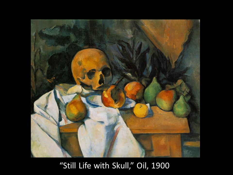 Still Life with Skull, Oil, 1900