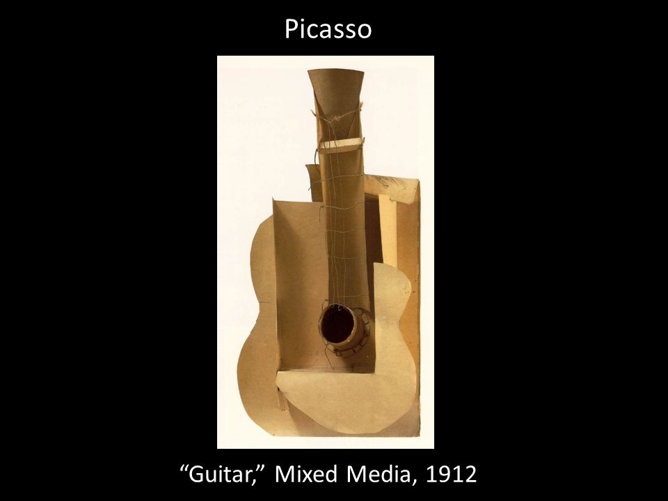 Picasso Guitar, Mixed Media, 1912