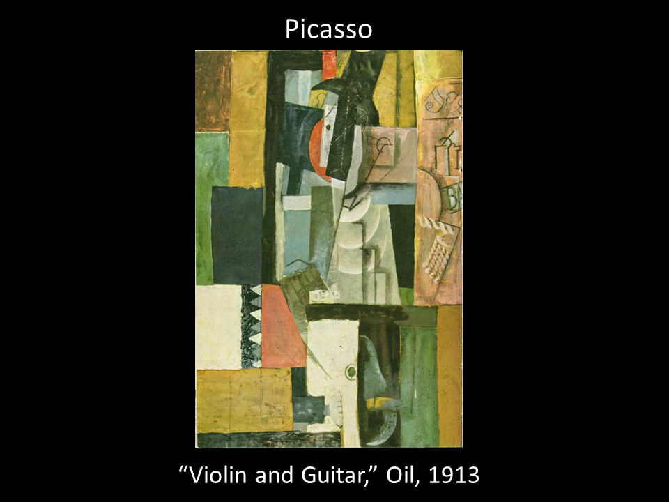 Violin and Guitar, Oil, 1913