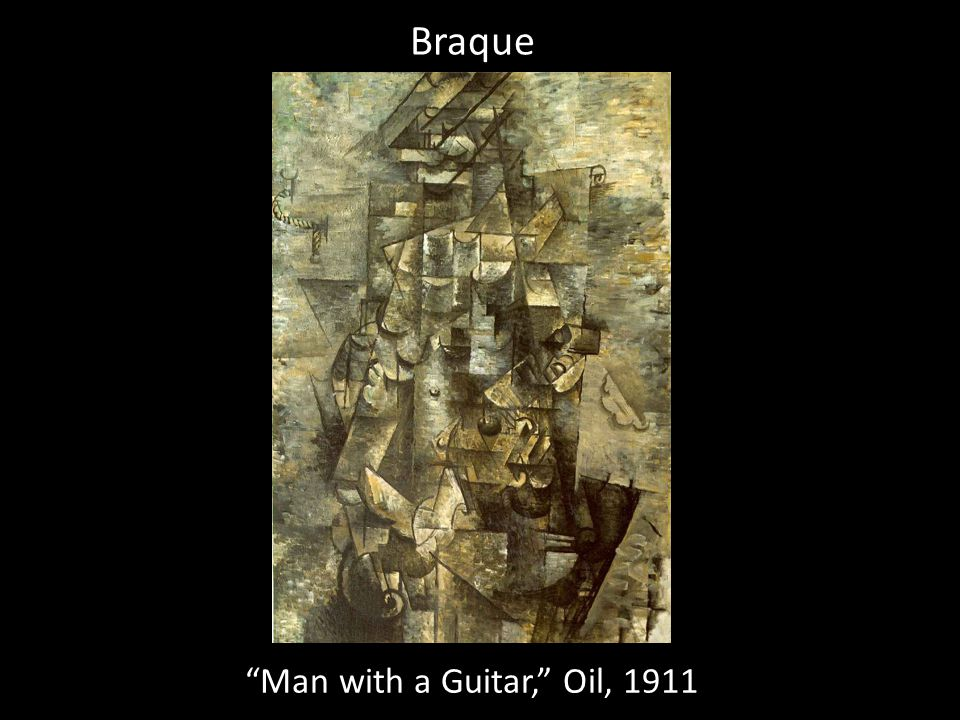 Braque Man with a Guitar, Oil, 1911
