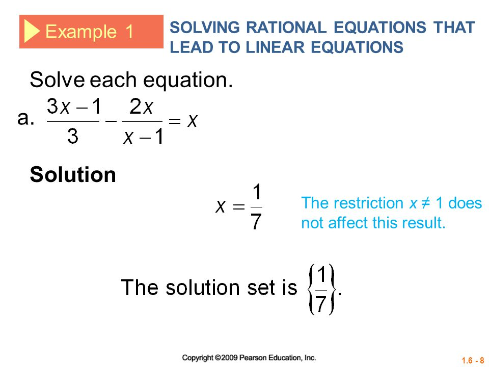 how to solve each equation