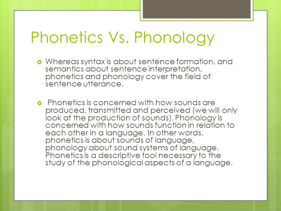 essay on phonetics and phonology The integration of phonetics and phonology - linguistics.