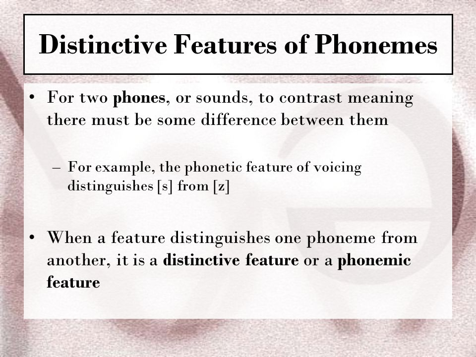 Distinctive Features of Phonemes