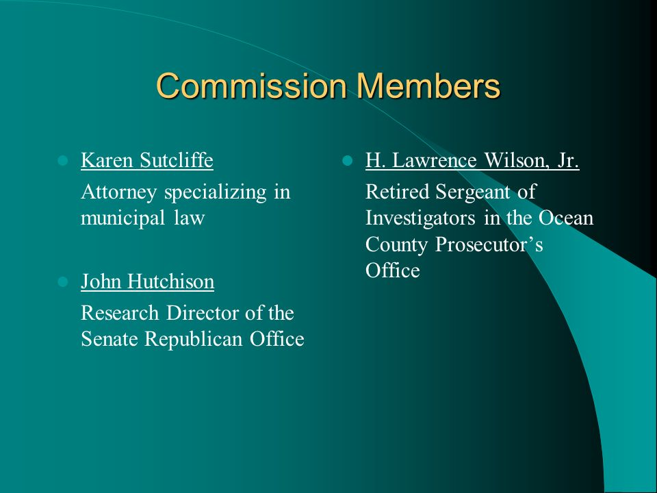 Commission Members Karen Sutcliffe