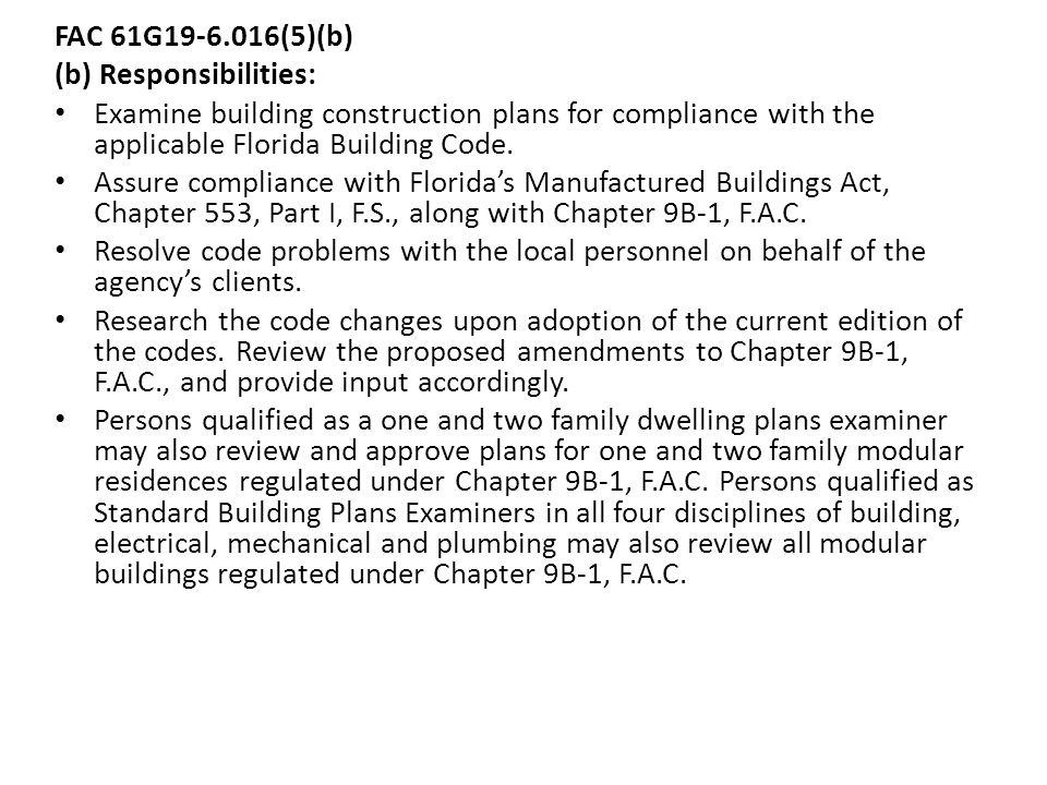 Local Amendments To The Florida Building Code