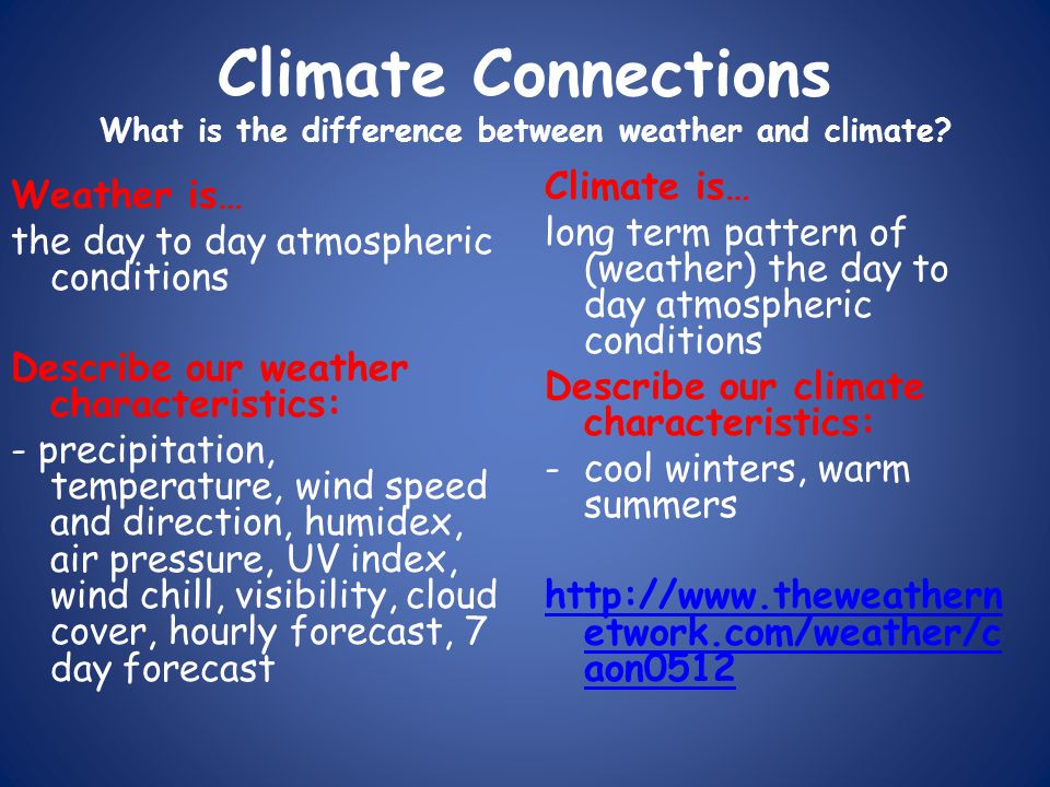 the difference between weather and climate This video lesson will guide you in understanding the difference between climate and weather discover how they are different but related and how.