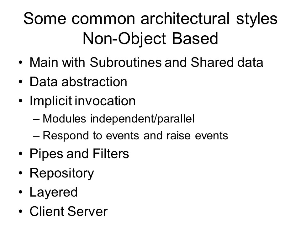 Common architectures and design patterns ppt download for Common architectural styles
