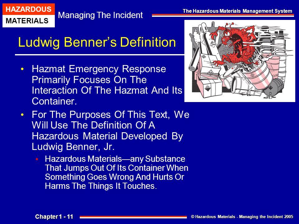 Chapter 1 The Hazardous Materials Management System Ppt
