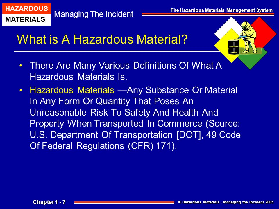 Chapter 1 The Hazardous Materials Management System Ppt