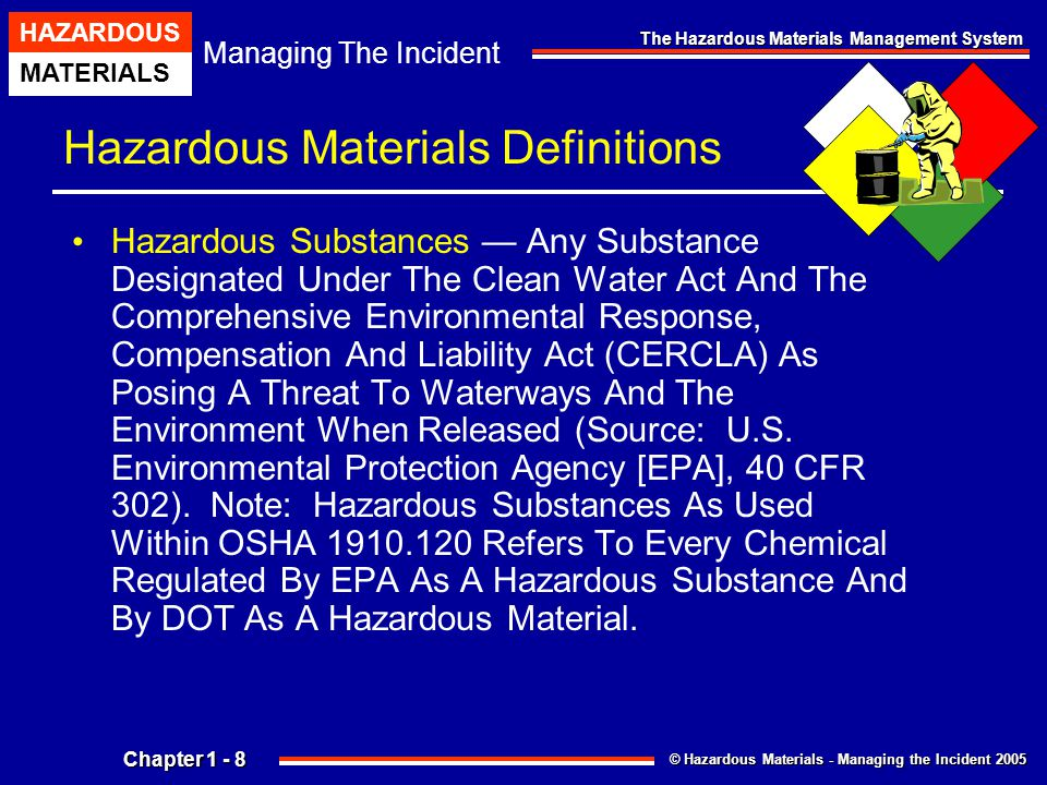 Chapter 1 the hazardous materials management system ppt download hazardous materials definitions publicscrutiny Images