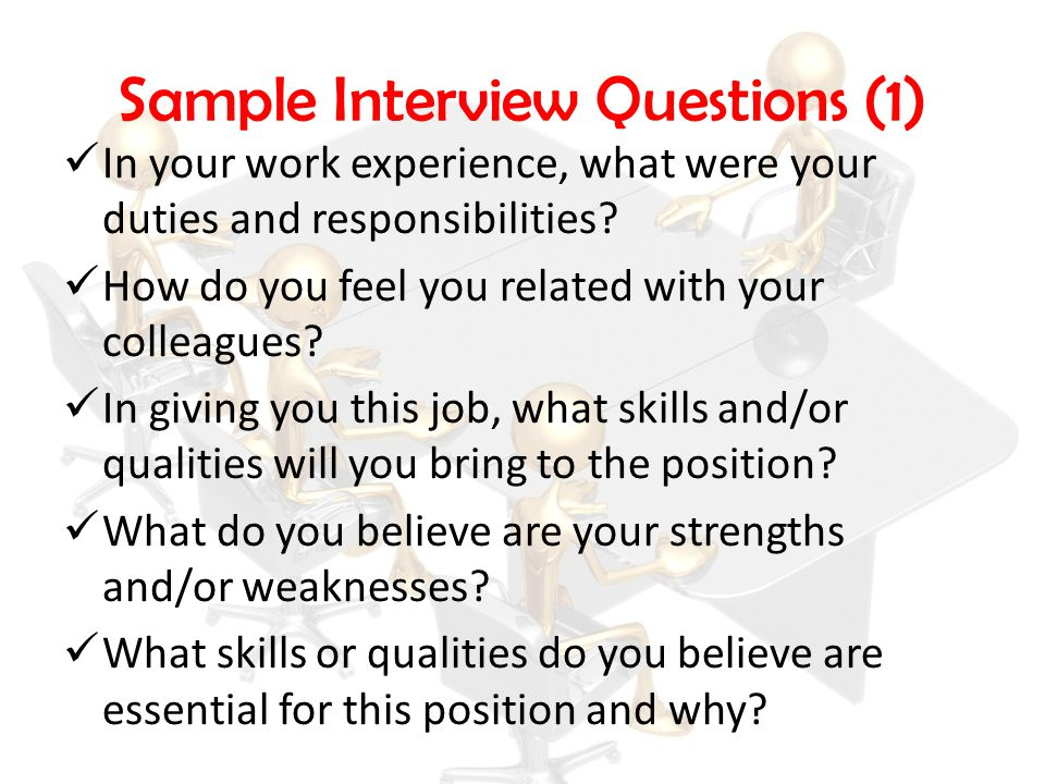 Sample Interview Questions (1)