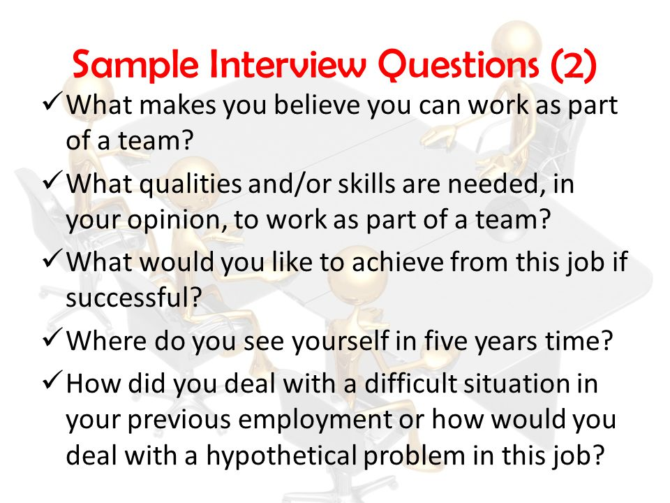 Sample Interview Questions (2)