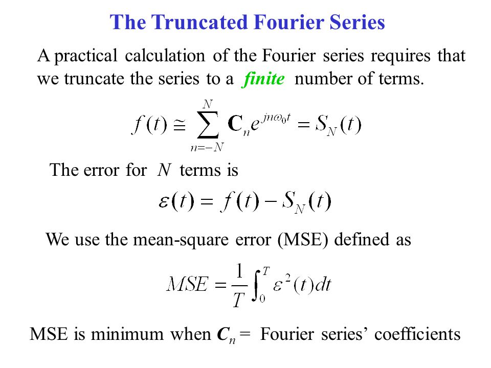 Chapter 15 fourier series and fourier transform ppt - Fourier series transform table ...