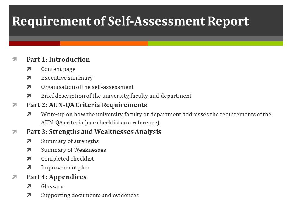 Writing Your Own Self-Assessment (and Goals)